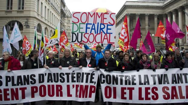 Desempleo en Francia toca m�ximo de 15 a�os en enero