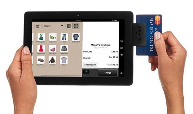 Amazon lanza lector de tarjetas de crédito y débito