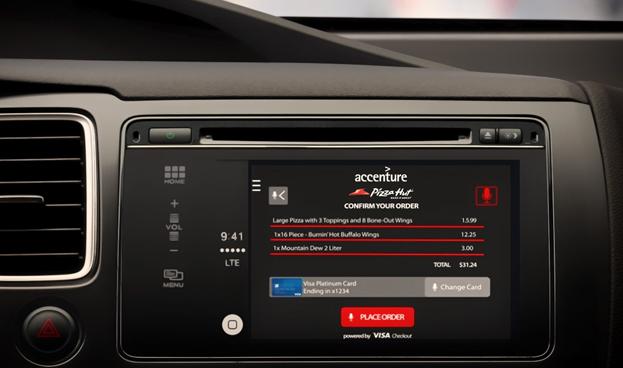 Accenture y Visa colaboran en un sistema que permita pagar desde el coche