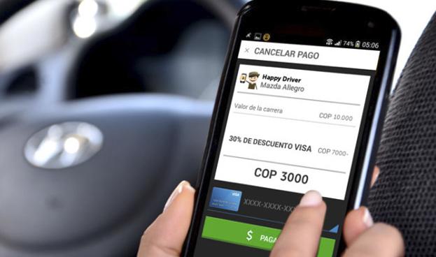 Crecen en Colombia los pagos de servicio de taxi con tarjetas