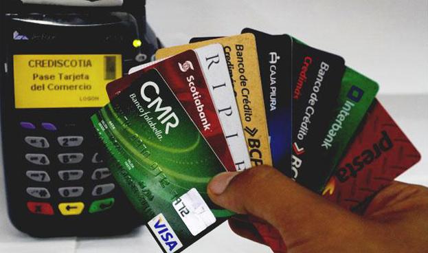 Las deudas por tarjetas de crédito en Perú crecieron 15,3% durante el último año