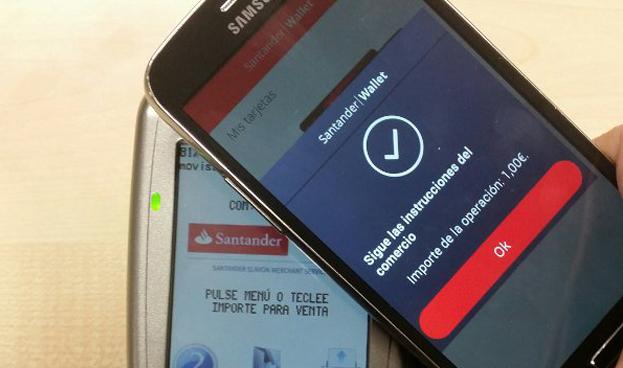 Santander lanza en España su servicio de pago móvil