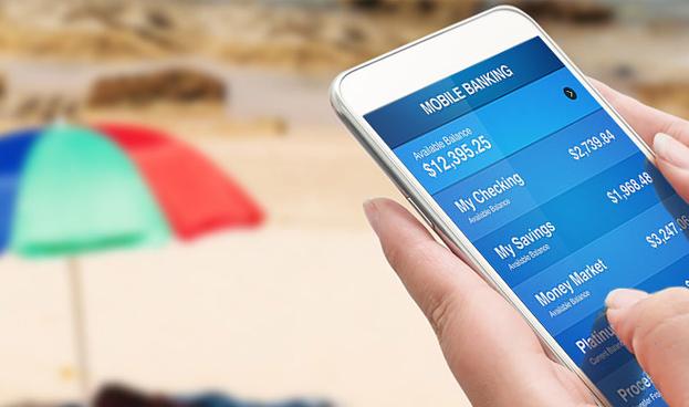Un 28,57% de los españoles usa la banca móvil en verano