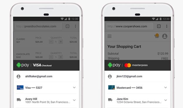 Android Pay se alía con Visa y Mastercard