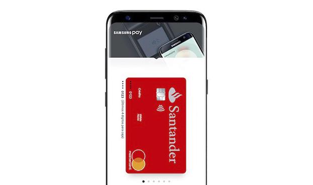 Los clientes de Santander en España podrán pagar a través de Samsung Pay