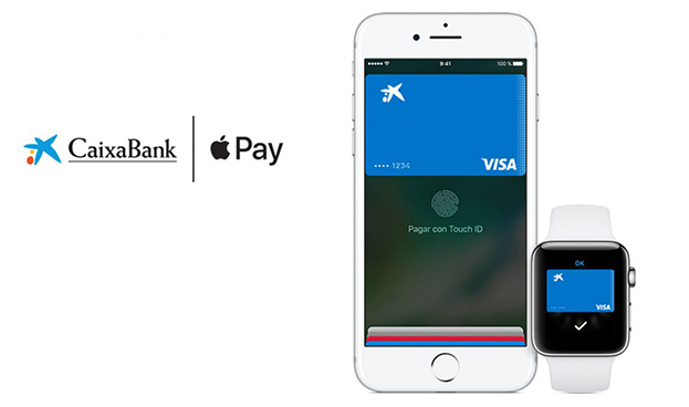 En España los 3,8 millones de clientes CaixaBank tendrán Apple Pay a finales de 2017