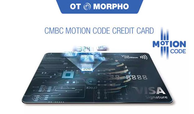 OT-Morpho lanza en China la primera tarjeta de pago con CVV2 dinámico MOTION CODETM