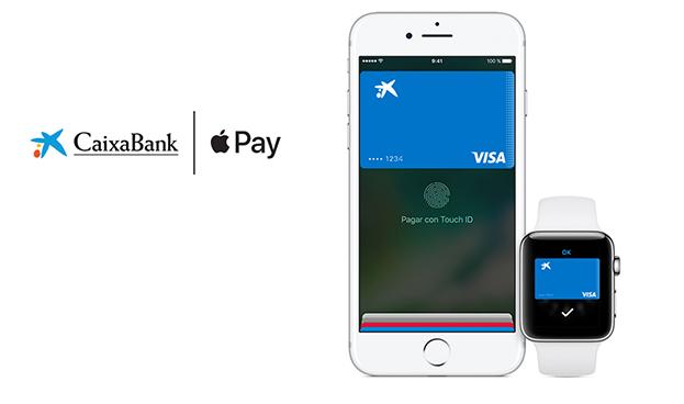 España: clientes de CaixaBank e ImaginBank ya pueden pagar con Apple Pay