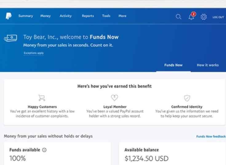 Paypal lanza Funds Now, para que pequeñas empresas tengan acceso inmediato a sus fondos