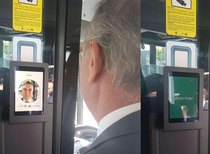 Los autobuses de Madrid prueban el pago a través de reconocimiento facial de la mano de Mastercard