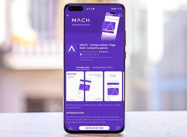 Chile: la aplicación Mach se suma al AppGallery de Huewei