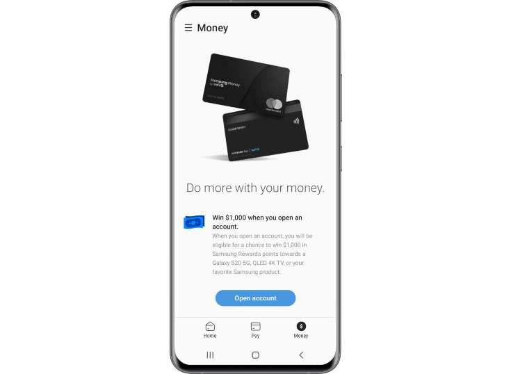 Samsung presentó su tarjeta de débito y cuenta digital