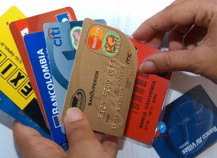 Cae fuertemente en Colombia el uso de tarjetas de crédito