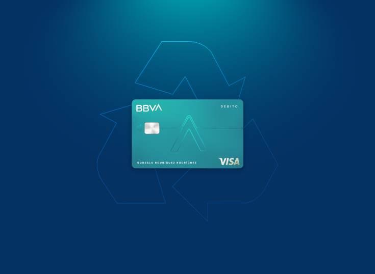 Todas las tarjetas de BBVA serán de material reciclado en 2023